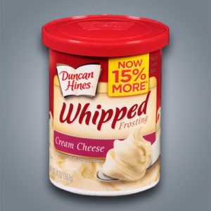 duncan-hines frosting whipped cream cheese crema di formaggio