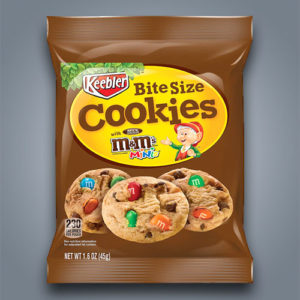 Mini Cookies farciti con M&M's