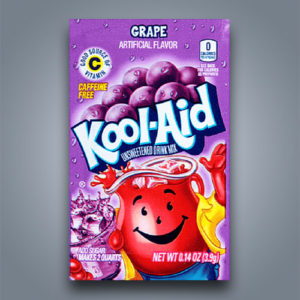 kool aid grape, bevanda in polvere originale americana al gusto uva