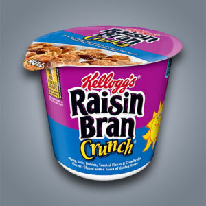 Cereali Kellogg's Raisin Bran Crunch in monoporzione
