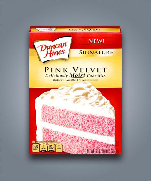 preparato per torta americana duncan hines pink velvet cake