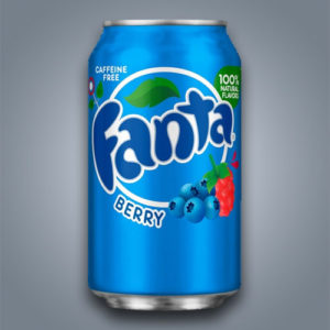 Fanta Berry al gusto mirtillo e lampone in Italia introvabile