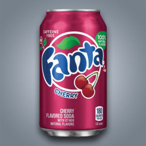 Fanta Cherry al gusto ciliegia in Italia introvabile