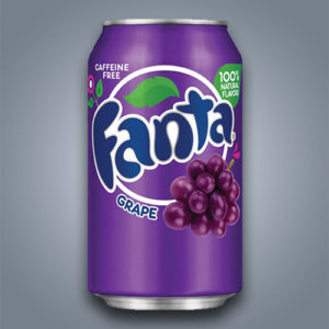 Fanta Grape, fanta al gusto uva introvabile in Italia