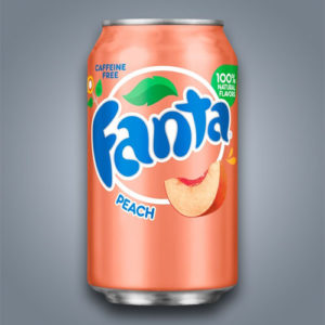 Fanta Peach al gusto pesca in Italia introvabile