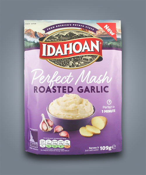 Idahoan purè di patate pronto all'aglio arrostito