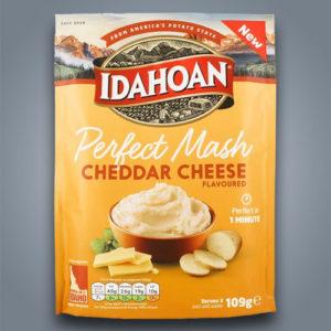 Idahoan Perfect Mash Cheddar Cheese, purè di patate già pronto al gusto di formaggio cheddar