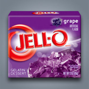 Jello Grape gelatina dessert al gusto uva
