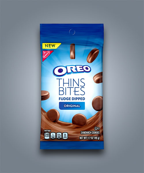 Mini Oreo Thins Original ricoperti di cioccolato al caramello fudge
