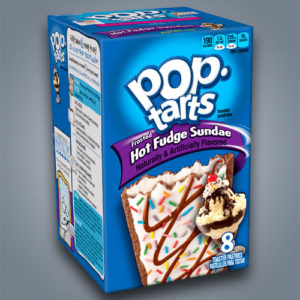 Pop Tarts gusto gelato Hot Fudge Sundae