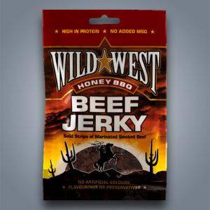 Wild West Beef Jerky Honey BBQ, carne secca di manzo al miele e salsa barbecue