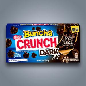 Buncha Crunch Dark snack di riso soffiato e cioccolato fondente