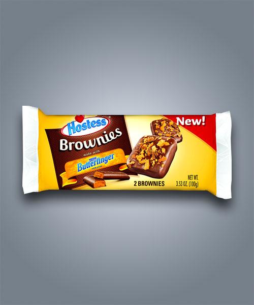 Hostess Butterfinger Brownie, merendine al cioccolato e burro di arachidi