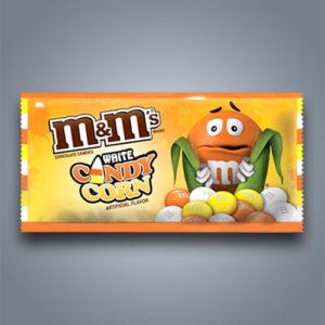 M&M's candy corn e cioccolato bianco