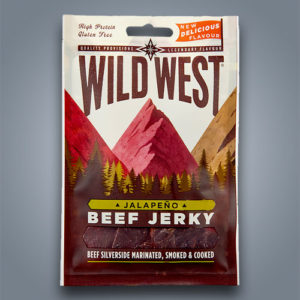 Wild West snack di carne essiccata Beef Jerky Jalapeno