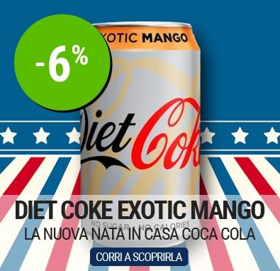 Diet Coke Exotic Mango, Coca Cola al mango