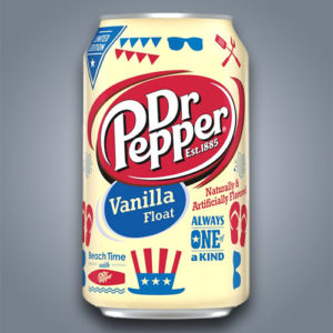 Dr Pepper Vanilla Float, gusto vaniglia