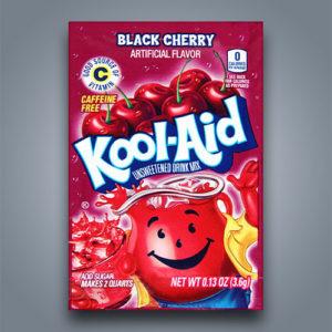 Bevanda in polvere Kool Aid Black Cherry al gusto di amarena