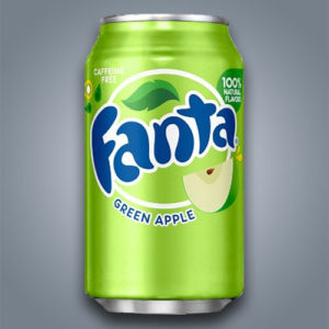 Fanta Green Apple al gusto di mela verde