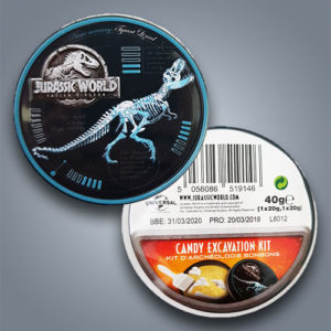 Jurassic World Kandy Excavation Kit, gioco e caramelle
