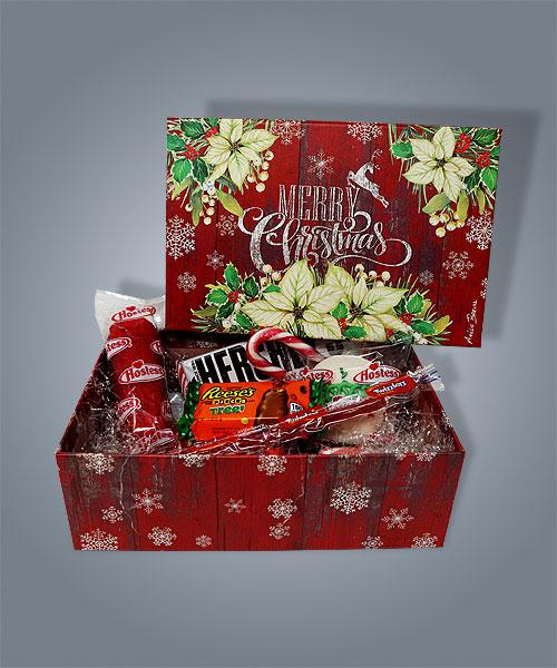 Box di cibo americano in versione natalizia, per regali speciali e golosi