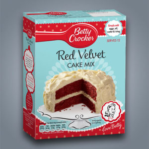 Preparato per torta Red Velvet della Betty Crocker