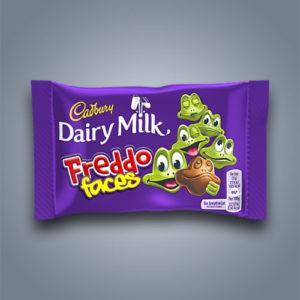 Cadbury Freddo Faces, cioccolatini al latte a forma di rana