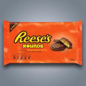 Reeses Rounds biscotti al cioccolato e burro di arachidi