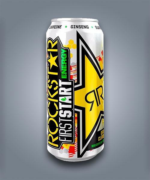 Bevanda energetica Rockstar First Start Energy al gusto di arancia e clementina