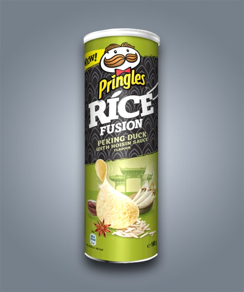 Pringles Rice Fusion Peking Duck with Hoisin Sauce, gusto anatra alla pechinese con salsa hoisin