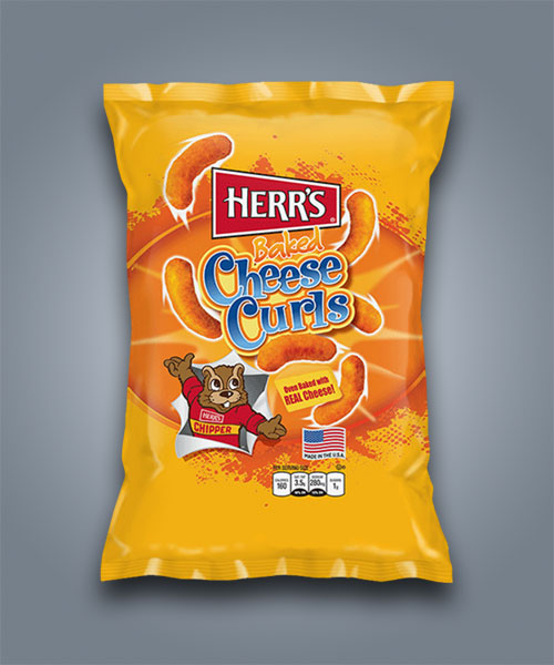 Herrs Baked Cheese Curls, patatine soffiate al formaggio