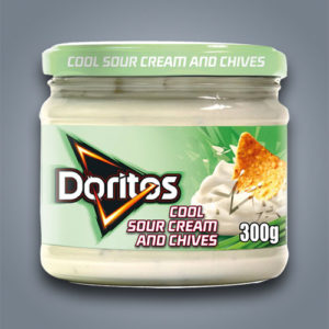 Doritos Cool Sour Cream and Chives Dip, salsa al gusto di panna acida ed erba cipollina