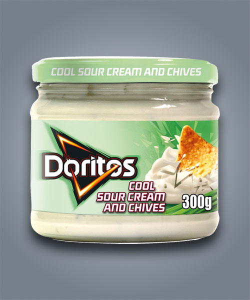 Doritos Cool Sour Cream and Chives Dip, salsa al gusto di panna acida ed erba cipollina